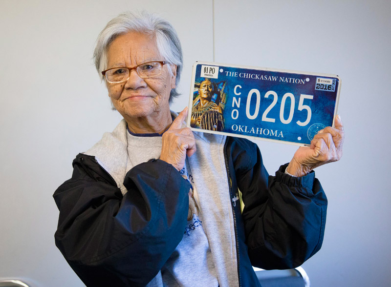 First Chickasaw Nation license plate sold