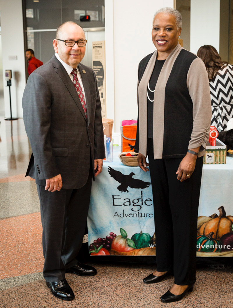 Governor Bill Anoatubby and Audrey Rowe