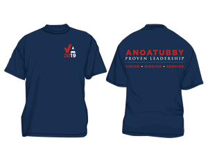 Vote Anoatubby t-shirt front and back